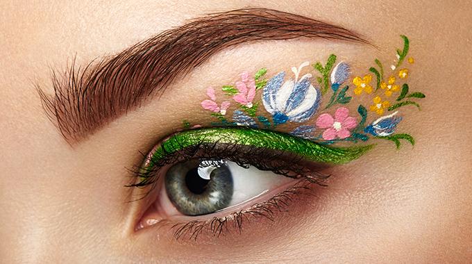 Makijaż kwiatowy