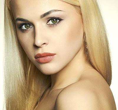 Makijaż zielonych oczu